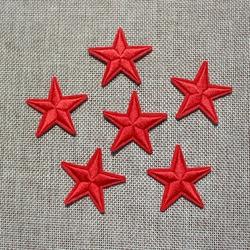 Nouveauté 10 pièces Couleur Rouge petite étoile patchs Brodés de fer sur dessin animé Motif Applique bricolage accessoire de broderie
