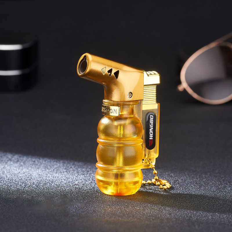 Image 3 - NEW Compact Butane Jet Lighter Torch Turbo Pipe Lighter Mini Spray Gun Cigar Lighter Windproof 1300 C No Gas-in Matches from Home & Garden