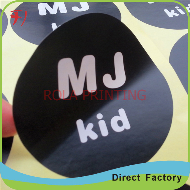 Gold printing small round shape stickers selling art paper stickers