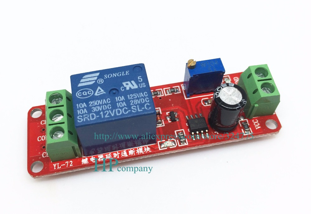 Free Shipping 10pcs  Lot 12v Delay On Off Relay Module Time