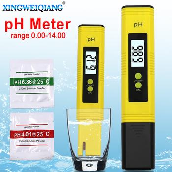 Cyfrowy tester pH do basenu z wyświetlaczem LCD pH-metr dokładność 0 1 badanie akwarium wody wina moczu automatyczna kalibracja tanie i dobre opinie XINGWEIQIANG PH00 DIGITAL