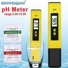 Cyfrowy tester pH do basenu z wyświetlaczem LCD, pH metr, dokładność 0,1, badanie akwarium, wody, wina, moczu, automatyczna kalibracja