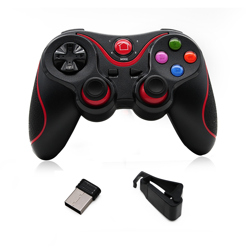 <font><b>Bluetooth</b></font> 3.0 T3 Wireless <font><b>Joystick</b></font> Smart Phone Game <font><b>Controller</b></font> for Android X3 <font><b>Gamepad</b></font> Gaming <font><b>Remote</b></font> Control for PC Phone Table image
