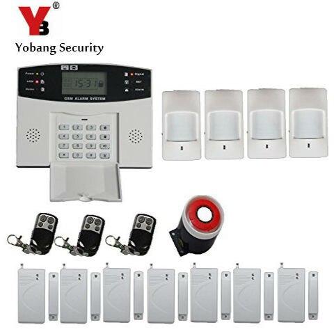 Yobang D'alarme de Sécurité GSM Systèmes D'alarme De Sécurité À Domicile Avec ÉCRAN LCD Clavier GSM SMS Alarme Domotique Alarme anti-vol Sans Fil