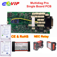 New Arrival Single PCB Multidiag 2016.00 with Keygen newest Bluetooth TCS CDP Pro OBD2 Diagnostic Scanner Tool for Cars/Trucks
