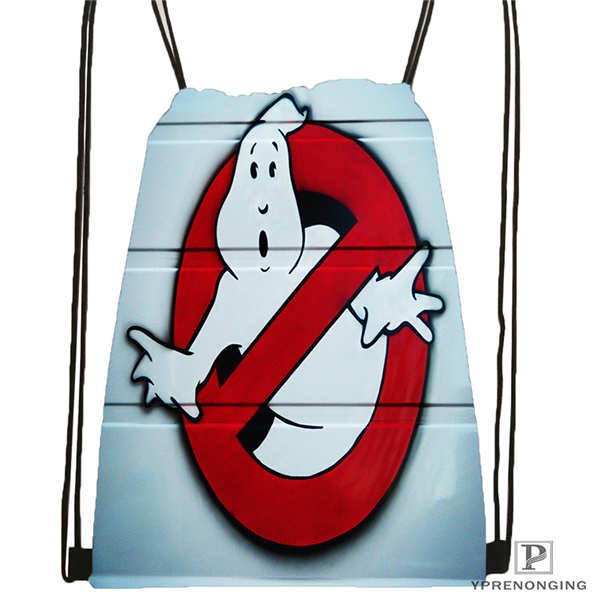 Custom Ghostbusters-leslie-jones- Drawstring Backpack Bag Cute Daypack Kids Satchel (Black Back) 31x40cm#20180611-02-80