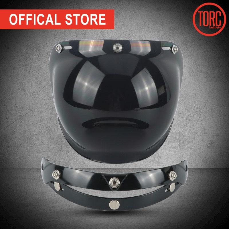 TORC dəbilqə baloncukları visor Harley vintage retro açıq üz dəbilqəsi motosiklet dəbilqə baloncuk visor lens eynək PC LENS