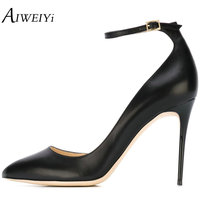 AIWEIYi Women Pumps Spring 2018 Shoes Woman Super Thin High Heels Ladies Stilettos Black Lady Wedding Shoes Evening Dress Shoes