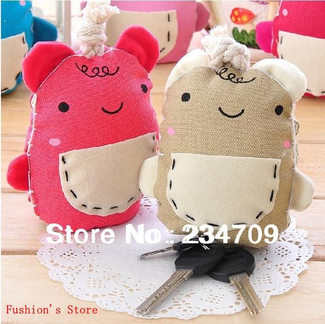Free shipping,hot sell!new fashion cute cartoon mouth wombat PP/cotton fabric wallets/key wallets/handbags,1 pcs/lot
