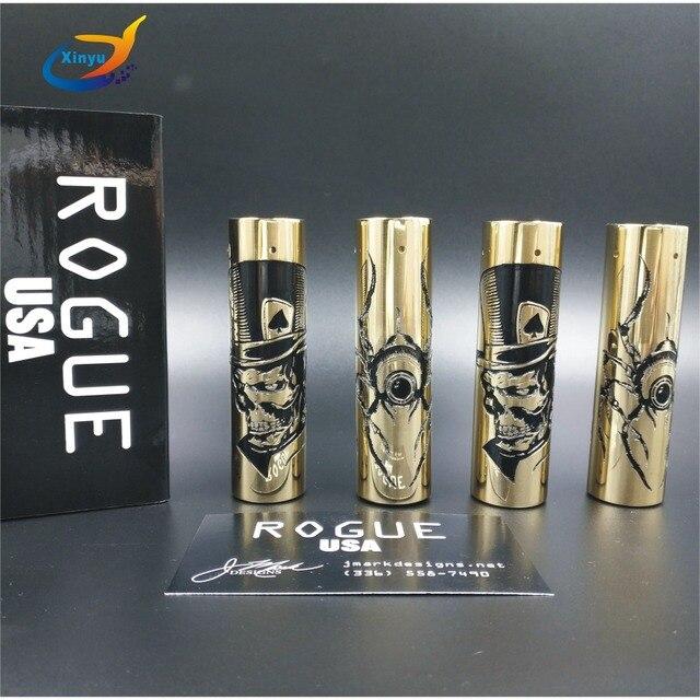 ROGUE Pirate MOD cigarette Électronique Mécanique Mod Kit 18650 batterie 510 fil Vaporisateur Mods ajustement atomiseur RDA RBA vaporisateur