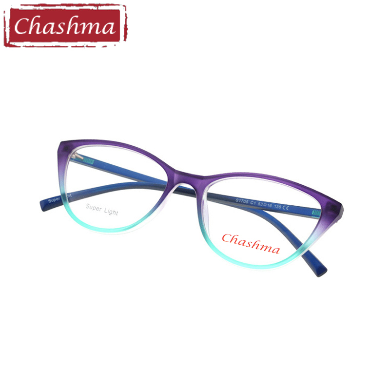 Chashma Brand Cat Eye TR 90 Prescription Glasses Gafas Mujer Quality Alloy Frames Light Eyeglasses Women Semi Rimmed Occhiali(China)