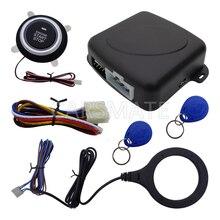 Интеллектуальные RFID Автомобильная Сигнализация С Кнопкой Запуска и Остановки Двигателя Автомобиля и 2 Иммобилайзер Транспондеров Быстро Доставка