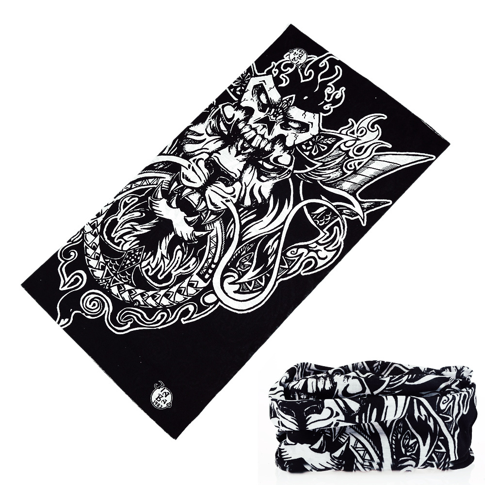 Motorcycle Skull Face Mask Neck Gaiter Women Men Magic Seamless Bandanas Balaclava Neck Warmer Running Head Scarf Hijab Viscose