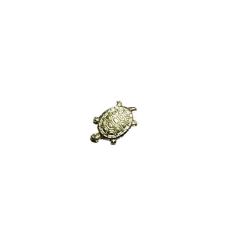 Lucu Kecil Ornamen Uang Kura-kura Air Dangkal Kolam Perhiasan Candi Beruntung Emas Turtle Barang Dekorasi Rumah Pernak-pernik