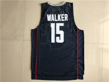 c9443c2212b2 ... do dower Kemba Walker 15 Uconn Huskies WhiteBlue Embroidery Stitched College  Basketball Jersey Size ...