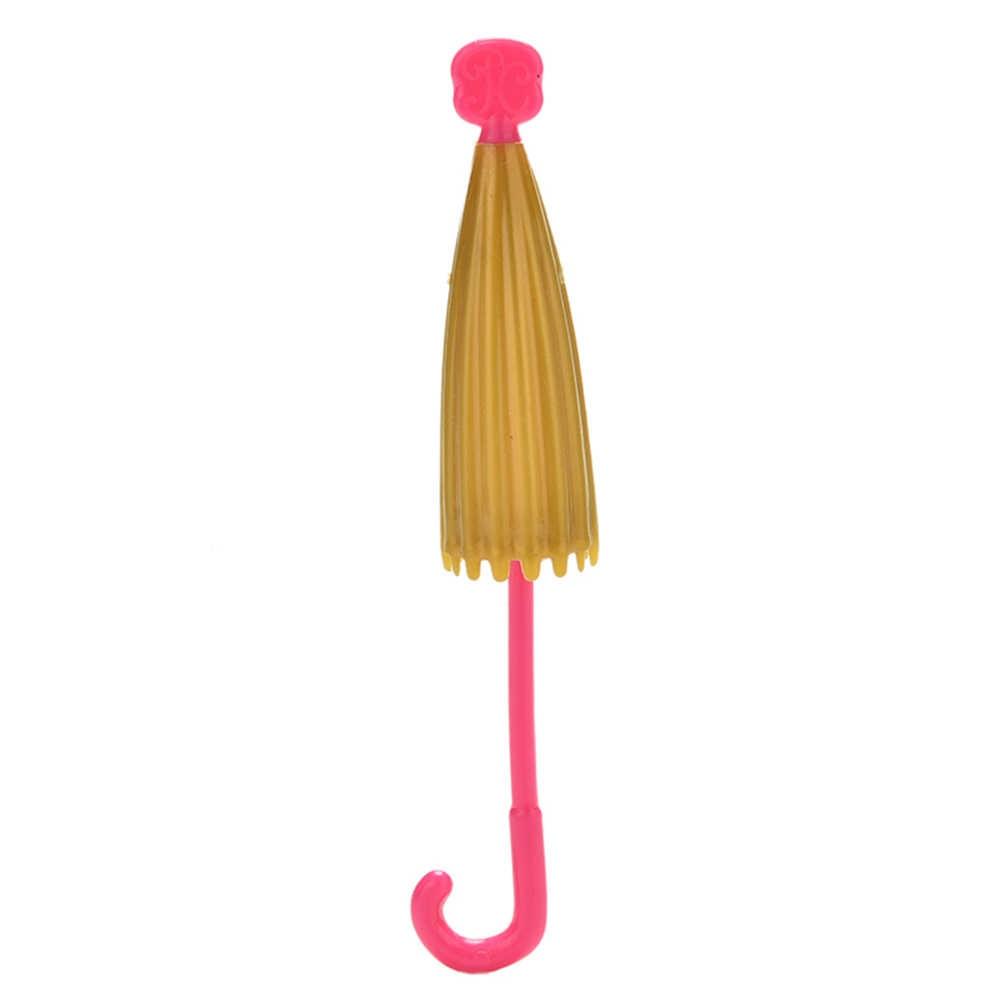 TOYZHIJIA 1 шт. Модный Красочный мини пластиковый зонт ручной работы для куклы Барби аксессуары детские куклы Подарки