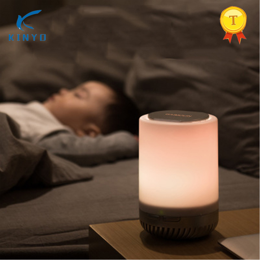2108 Kinyo Newest Design LED Lamp Air Purifier For Home Child Room Office Mini Air Cleaner Factroy price 2108