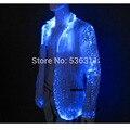 Осень зима привела случайный световой куртка Волоконно-Оптический зимняя куртка мужчины повседневная костюмы мужские деловые формальные куртка
