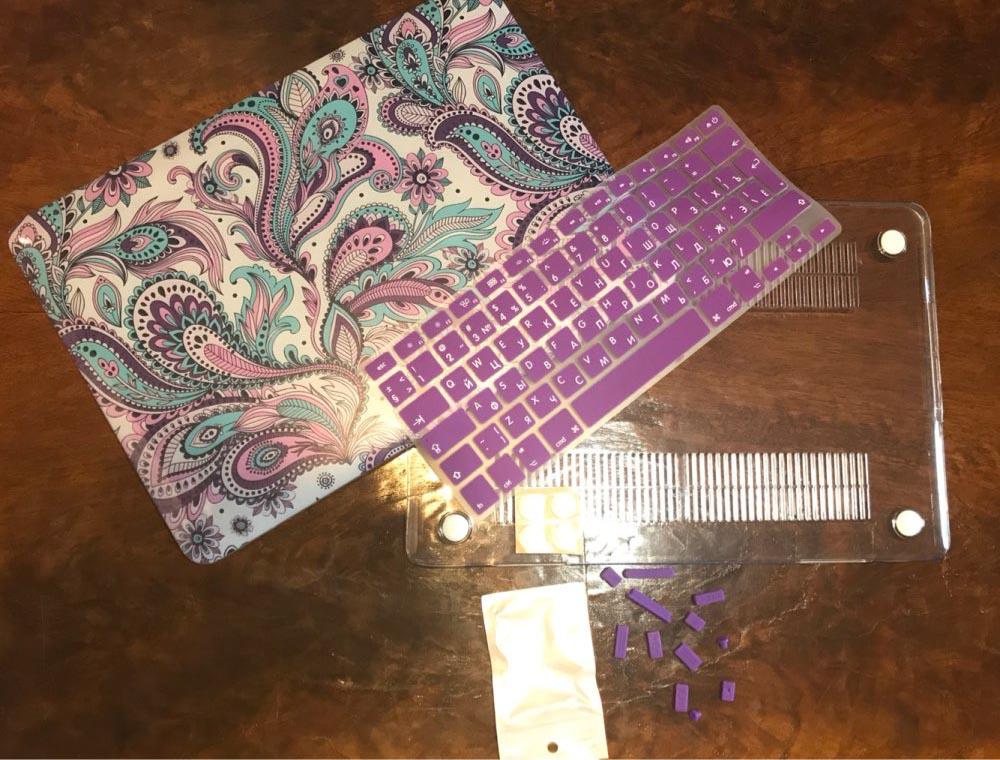 Redlai Colours Macbook Pro үшін Crystal Clear ноутбук - Ноутбуктердің аксессуарлары - фото 4