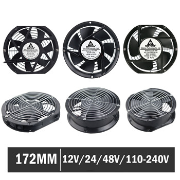 Gdstime 17251 17225 172mm * 51mm Axial Fan DC 12V 24V 48V AC 220V 240V Ball Bearing Axial Industry Cooling Cooler Fan 172*25mm brand new sj1725ha2 220v 1751 17cm axial cooling fan 172 150 51mm 2700 rpm 190cfm