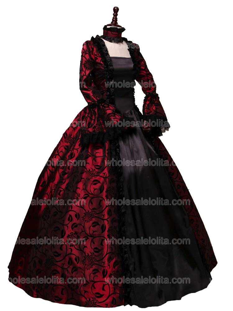Géorgienne Vêtements color4 Victorienne Gothique Boule Longue color2 De Color1 Période Robe Bal Reconstitution color3 JTlFK1c