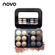 Brand New 12 Colors Eye shadow Makeup Palette High Quality Powder Smoky eyes Metal Naked Nude EyeShadow Cosmetics Brush & Mirror