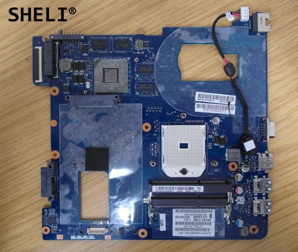 SHELI For Samsung NP355V5C NP355 Motherboard with HD7600 Video Card 2G BA59-03567A LA-8863P free shipping the laptop motherboard for samsung np355 np355c4c np355v5c qmle4 la 8863p hd7600 1gb socket fs1 ddr3 work perfect