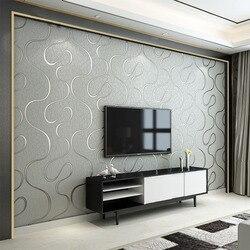 Современные 3D стереоскопического Гостиная Спальня ТВ Задний план обои кривая полоса нетканые дышащие звукоизоляции обоев