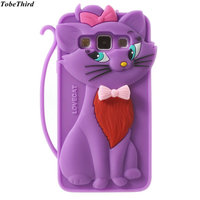 For Samsung Galaxy A3 A5 Case Cute 3D Adorable Cat Silicone Cover Case For Samsung Galaxy