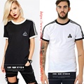 London Fashion Palace Skateboard T-shirt Men Women 1:1 Version Classic Striped Cotton O-neck Hip Hop Short Sleeve Palace T-shirt