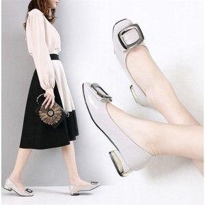 Image 2 - Máy bơm Nữ Giày Nữ Mùa Hè 2019 Mới Thiết Kế giày Cao gót Nữ với Đế 40 41 Công Việc Đen Người Phụ Nữ Thanh Lịch Giày zapatos mujer