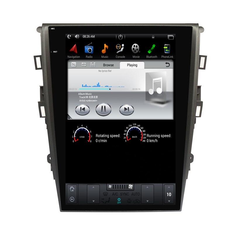 12.1 tesla style vertical écran android 7.1 Quad core De Voiture GPS radio Navigation pour ford Mondeo Fusion 2014- 2016