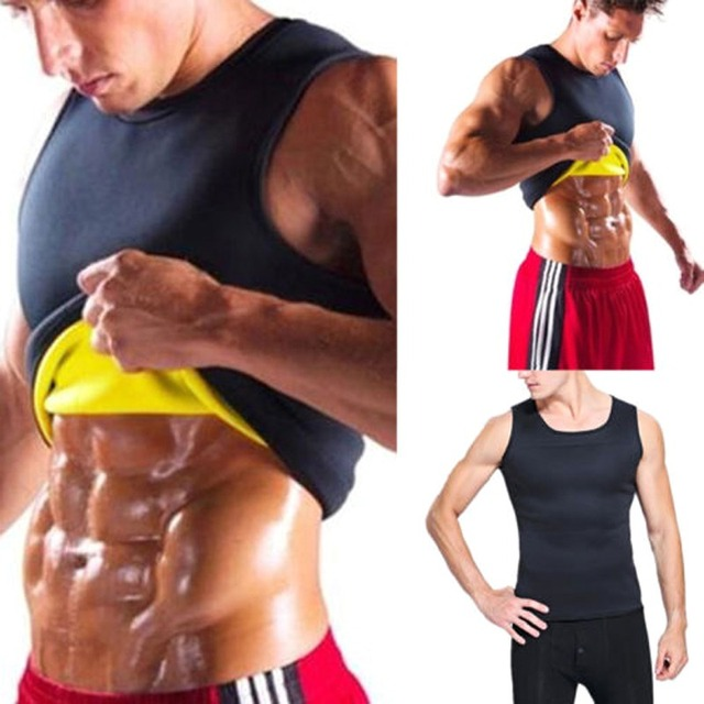New Men Running Vests Weight Loss Mens Body Shaper Vest Trimmer Tummy Shirt Hot Girdle New Arrival Size M-3XL 4 Color 4