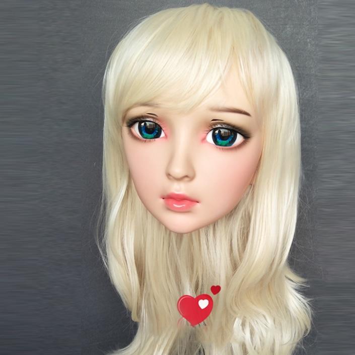 ya-01 Novelty & Special Use Gurglelove Female Sweet Girl Resin Half Head Kigurumi Bjd Mask Cosplay Japanese Anime Role Lolita Mask Crossdress Doll Durable Modeling