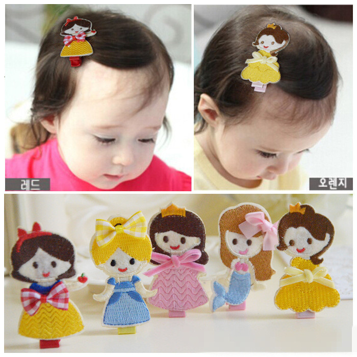 5pcs/lot Fabric Cartoon Princess Baby Girl Hair Accessories For Kids Children Clip Hairpin Hair Rope Rubber Band Headwear kk1353 cheap 1pcs women headwear scissors comb hair clip hair accessories headpiece hairpin headwear gold silver color drop shipping
