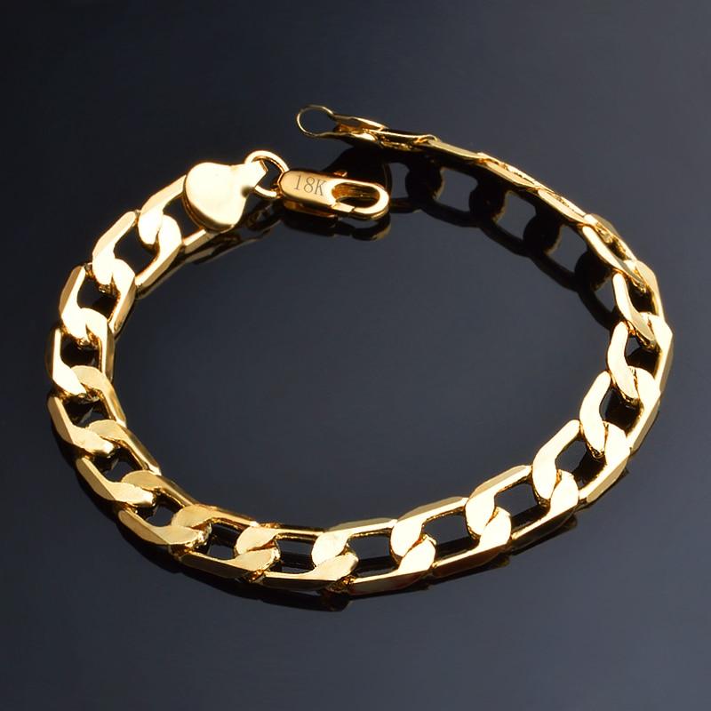 JEXXI 6/8/10 MM Classic Chain Bracelet Gold Color Bracelet Cs