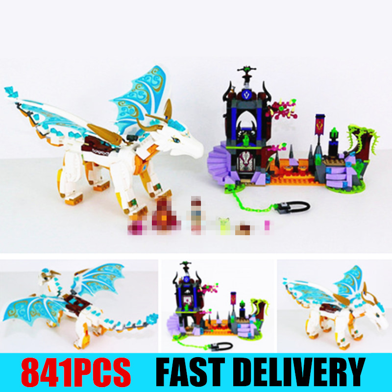 New Elves fairy Long After Rescue dragon girls fit elves fairy friends house model building blocks