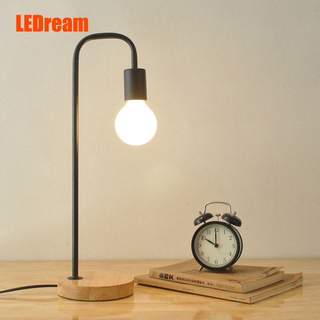 ФОТО LEDream led e27 Table Lamps Wood Personalized Desk Lamp  For Beside Home Decor For Bedroom Living Room study children and work