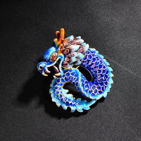 925 Silver Brooch China empty Sukhothai Cloisonne retro Brooch high-grade sweater chain DIY accessories wholesale