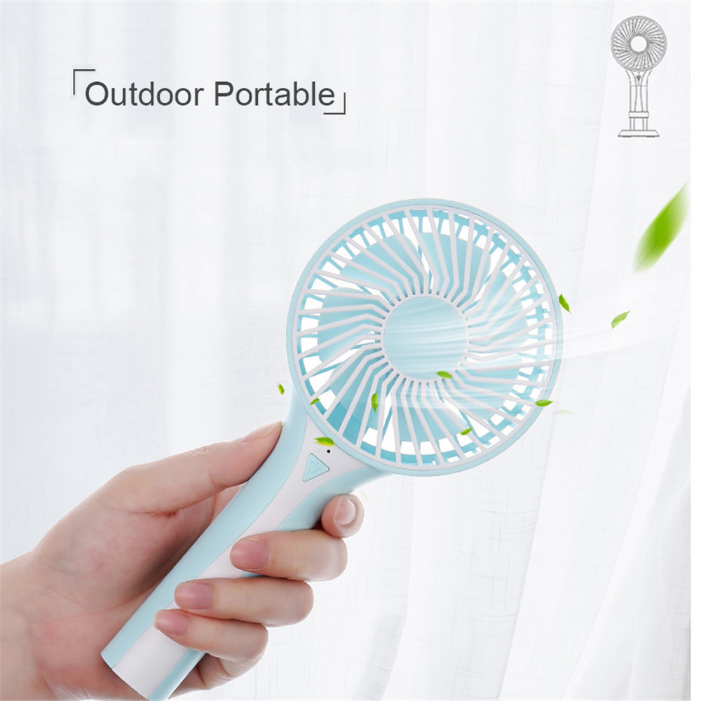 Portable Handheld Rechargeable Foldable Mini USB Fan Air Cooler Air Conditioning Fans Cooling Fan Battery (5)