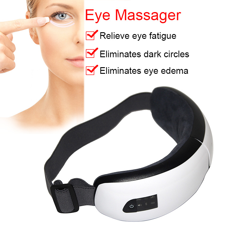 Foldable Electric Eye Massager Heat Compression Wireless Bluetooth Music Eyes Care Mask Promotion Price eye massager eye mask electronic foldable rechargeable with pressure vbration heat music for dry eye relax