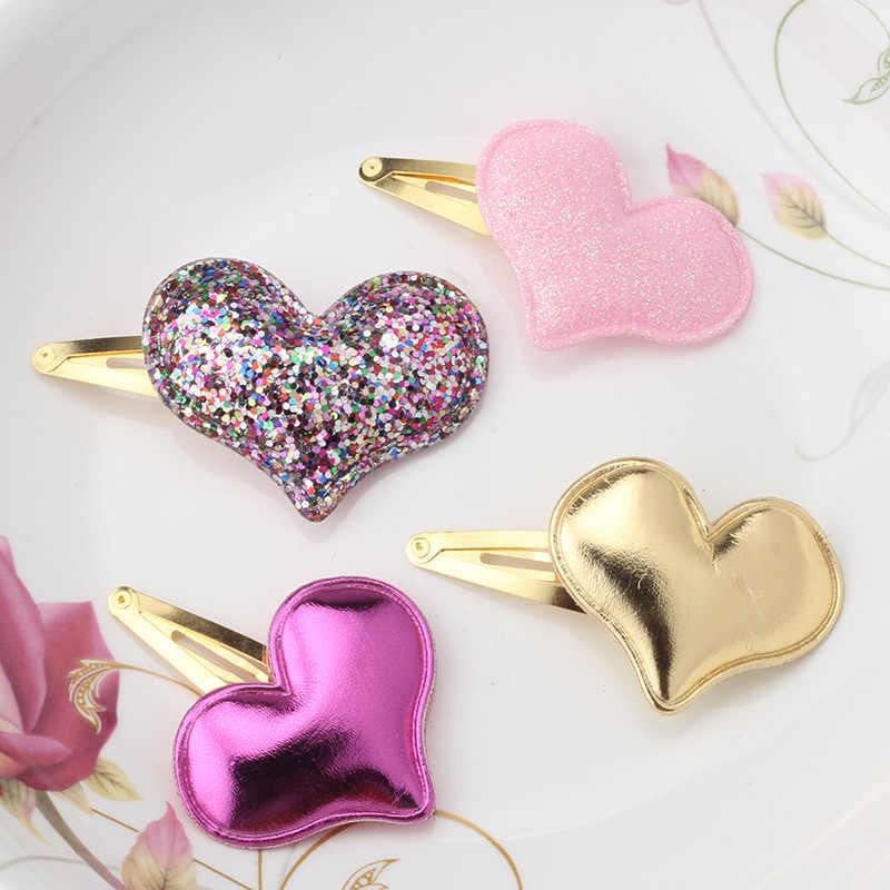 เด็กอุปกรณ์เสริมผมน่ารักหัวใจผีเสื้อ Barrettes Glitter ดาว Bobby คลิปคลิปผมเด็กเด็ก Hairpins