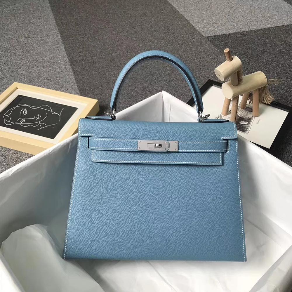 Die höchste qualität damen luxus mode schulter tasche 100% leder marke berühmte damen handtaschen alle handgemachtes freies verschiffen 28CM-in Taschen mit Griff oben aus Gepäck & Taschen bei  Gruppe 1