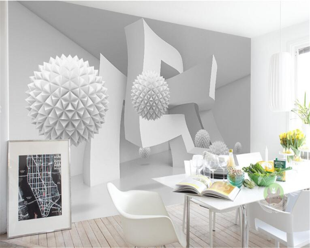 beibehang black and white 3d three dimensional art tree root art