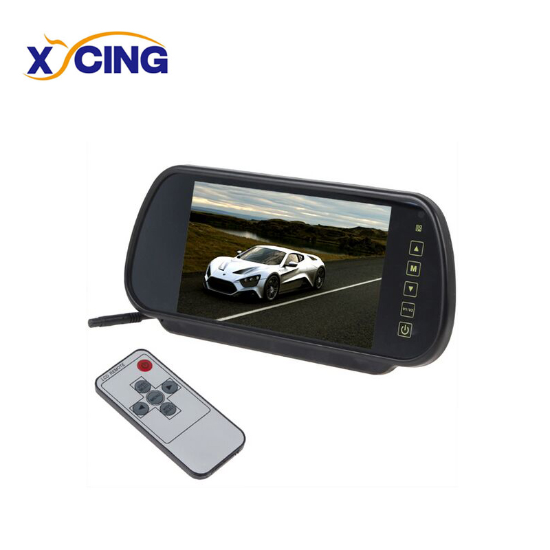 XYCING 7 Inch TFT LCD Touch Button Car Rear View Monitor 800*480 Pixels Screen Parking Reverse Rearview Mirror 2CH Video Input free shipping 120 inch 16 9 electric metallic