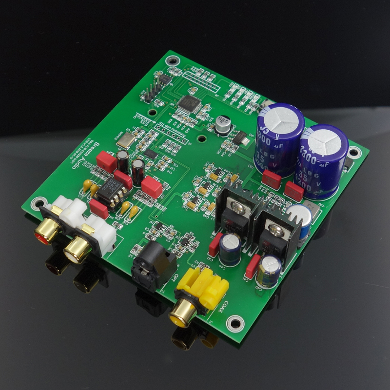 ES9038 Q2M I2S DSD Fiber Coaxial Input Decoder Board DAC High with Finished Board