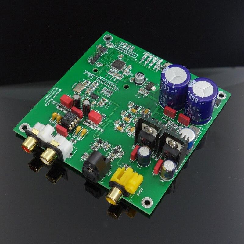 ES9038 Q2M I2S DSD Fiber coaxiale entrée carte de décodeur DAC haut avec carte finie