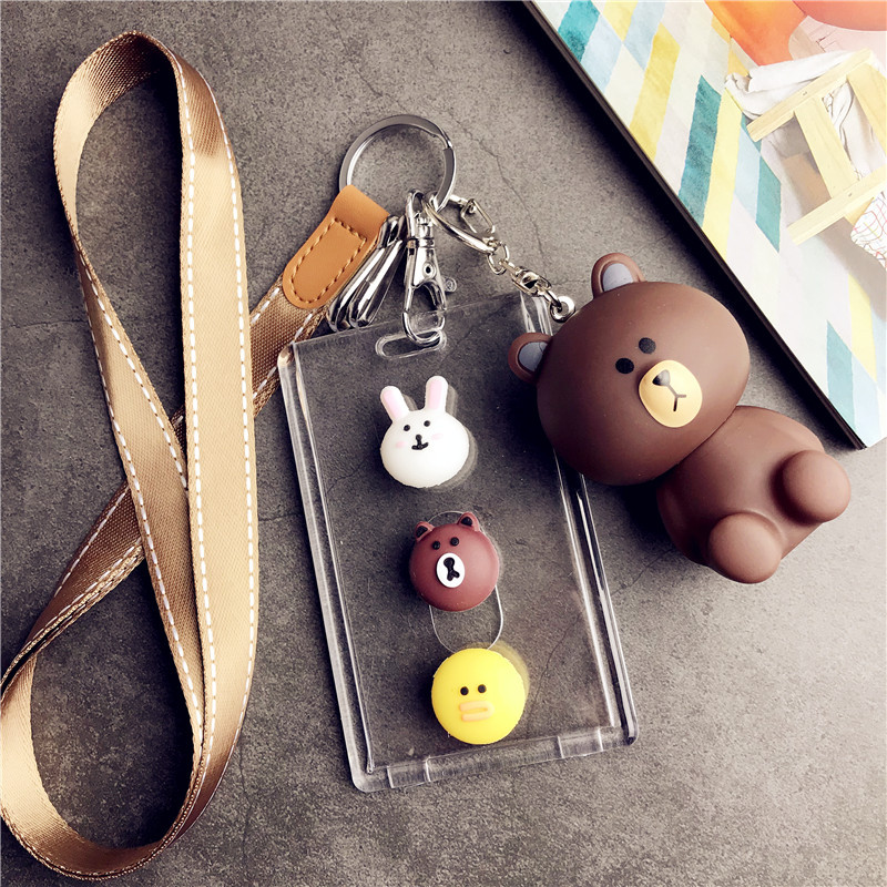 Coin Purses & Holders Card & Id Holders Strict Hnxzxb New Transparent Cartoon Bus Access Control Traffic Subway Card Set Creative Hanging Neck Card Set Keychain