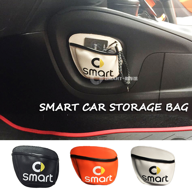 2018 New Car storage Bag Car Mobile Phone Sundried Card Storage Bag Mesh for Smart Fortwo Forfour