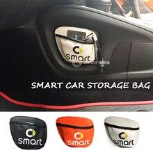 Nouveau sac de rangement de voiture, sac de rangement pour téléphone portable, sac de rangement pour cartes diverses, maille pour Smart 450 intelligent 451 intelligent 453 Fortwo Forfour